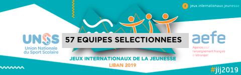 Les équipes sélectionnées pour les JIJ Liban 2019